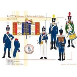 Das 7. französische leichte Infanterieregiment, 1813-1815