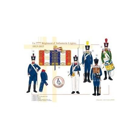 Le 7ème Régiment d'Infanterie Légère, 1813-1815