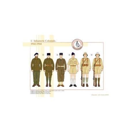 L'Infanterie Coloniale, 1942-1944
