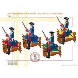 The companies of the Gardes du Corps of the Maison du Roi de France, 1740