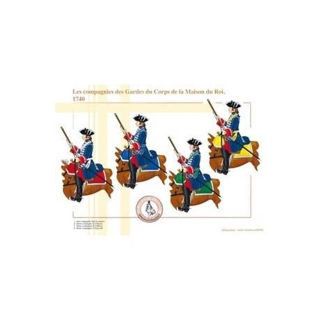 Les compagnies des Gardes du Corps de la Maison du Roi, 1740