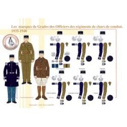 Dienstzeichen der Offiziere der französischen Kampfpanzerregimenter, 1935-1940