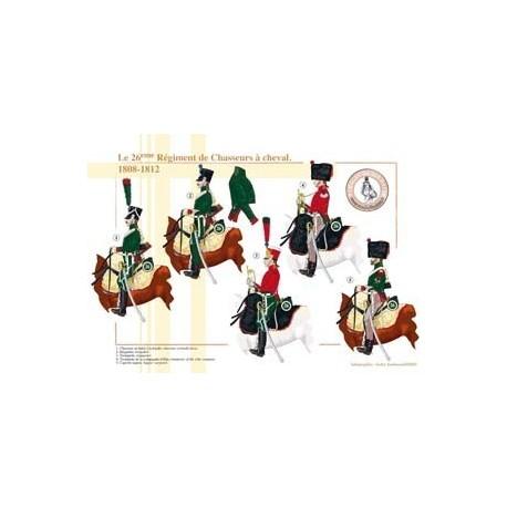 Le 26ème Régiment de Chasseurs à cheval, 1808-1812