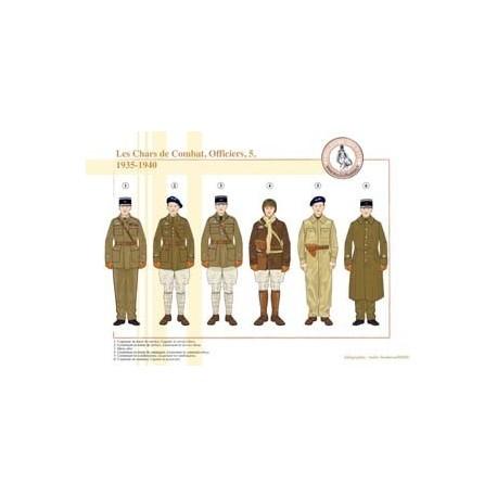 Les Chars de Combat français, Officiers (5), 1935-1940