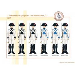L'Infanterie Espagnole, les distinctives (2), 1805