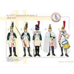 Das 13. französische Drachenregiment (2), 1806-1812