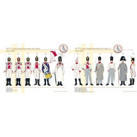 43rd Departmental Legion of Loiret (1 and 2), 1815-1820