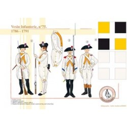 Vexin Infanterie, n° 75, 1786-1791