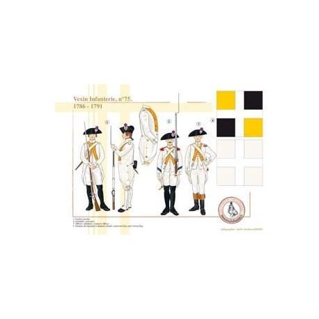 Vexin Infanterie, n°75, 1786-1791