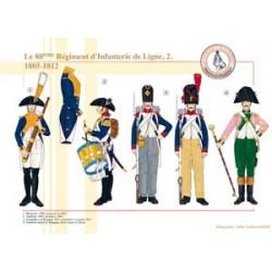 Le 88ème Régiment d'Infanterie de Ligne (2), 1805-1812