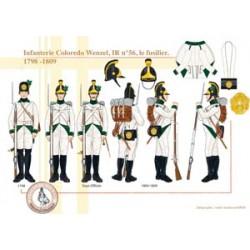 Coloredo Wenzel Infanterie, IR Nr. 56, Füsilier, 1789-1809
