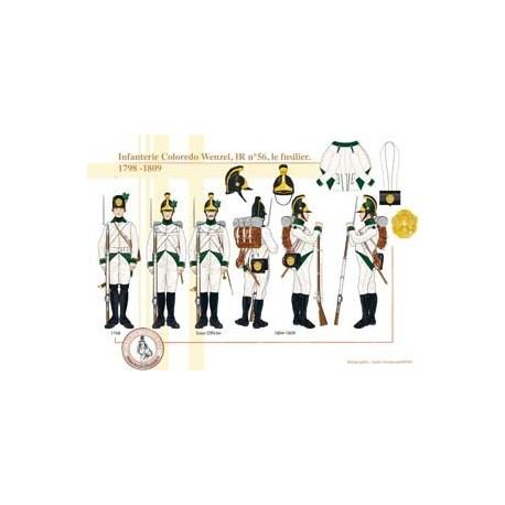 Infanterie Coloredo Wenzel, IR n°56, le fusilier, 1789-1809