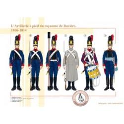 L'Artillerie à pied du royaume de Bavière, 1806-1814