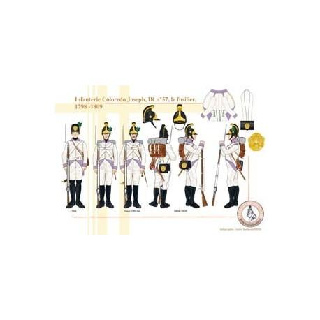Infanterie Coloredo Joseph, IR n°57, le fusilier, 1798-1809