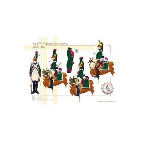 Le 8ème Régiment de Dragons, 1806-1812