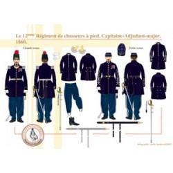Le 12ème Régiment de chasseurs à pied, Capitaine-Adjudant-major, 1860
