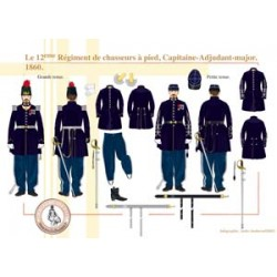 The 12th Régiment de chasseurs à pied, Capitaine-Adjudant-major, 1860