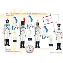 Le 1er Régiment d'Infanterie du royaume de Naples, 1808-1812