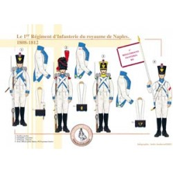 The 1st Infantry Regiment of the Kingdom of Naples, 1808-1812
