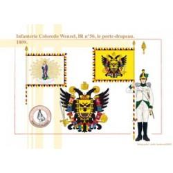 Infanterie Coloredo Wenzel, IR n°56, le porte-drapeau, 1809