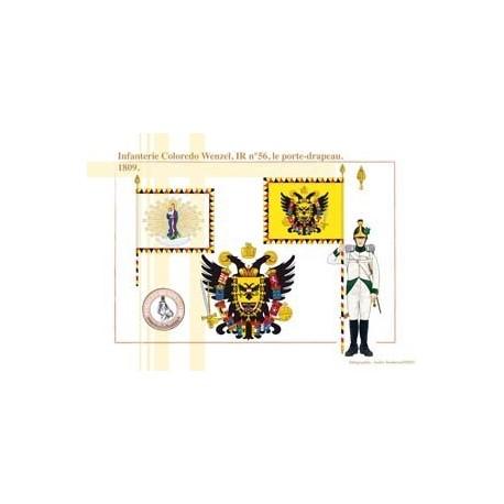 Coloredo Wenzel Infantry, IR No. 56, the flag bearer, 1809