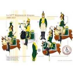 Das 24. französische Drachenregiment, 1808-1815