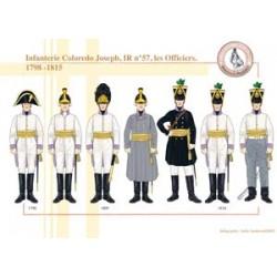 Infanterie Coloredo Joseph, IR Nr. 57, Offiziere, 1798-1815