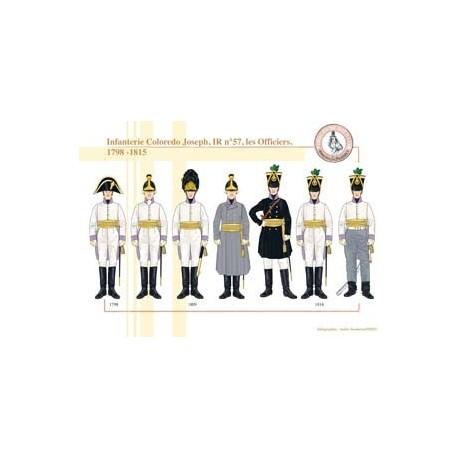Infantry Coloredo Joseph, IR No. 57, Officers, 1798-1815