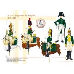 Das 22. französische Drachenregiment, 1813-1815