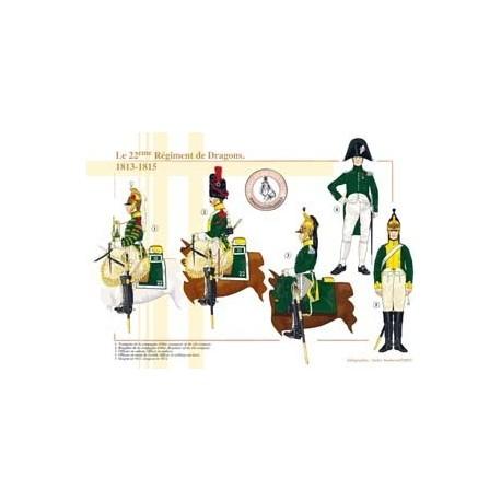 Le 22éme Régiment de Dragons, 1813-1815