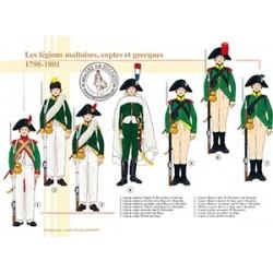 Les légions maltaises, coptes et grecques, 1798-1801