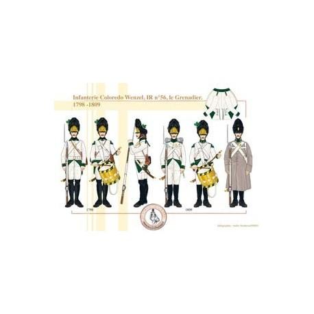 Infanterie Coloredo Joseph, IR n°57, les Officiers, 1798-1815