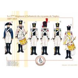 The 3rd Infantry Regiment of the Kingdom of Naples, 1807-1815