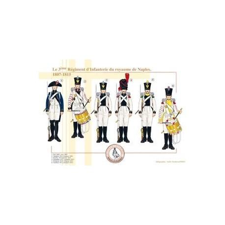 Le 3ème Régiment d'Infanterie du royaume de Naples, 1807-1815