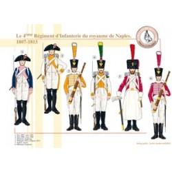 Le 4ème Régiment d'Infanterie du royaume de Naples, 1807-1815