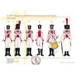 Das 4. Infanterieregiment des Königreichs Neapel, 1813-1815