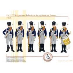 Le 27ème Régiment d'Infanterie du royaume de Prusse, 1815
