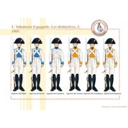 L'Infanterie Espagnole, les distinctives (3), 1805
