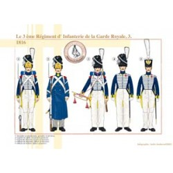 Das 3. Infanterieregiment der französischen königlichen Garde (3), 1816