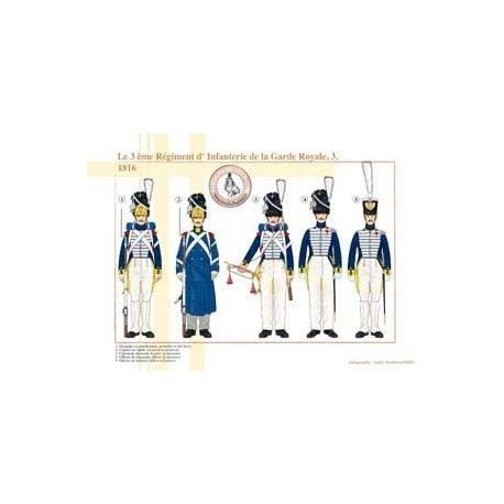 The 3rd French Royal Guard Infantry Regiment (3), 1816