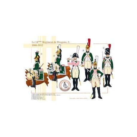 Le 14ème Régiment de Dragons (2), 1806-1812