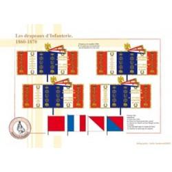 Die Flaggen der französischen Infanterie, 1860-1870