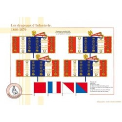 The flags of the French infantry, 1860-1870
