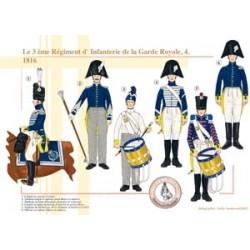 Das 3. Infanterieregiment der französischen königlichen Garde (4), 1816