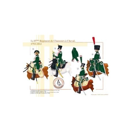 The 8th French Horse Chasseurs Regiment, 1793-1812