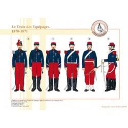 Le Train des Équipages français, 1870-1871