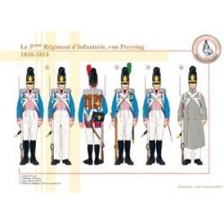 Das 5. Bayerische Infanterieregiment, von Preysing, 1810-1814