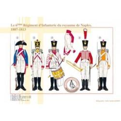 Le 6ème Régiment d'Infanterie du royaume de Naples, 1807-1813