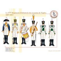 Das 5. Infanterieregiment des Königreichs Neapel, 1807-1813