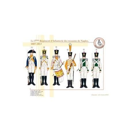 Le 5ème Régiment d'Infanterie du royaume de Naples, 1807-1813